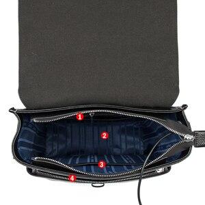 Image 4 - BISON DENIM Genuine Leather 14 inches Backpack Mens Travel Bag Waterproof Daypack USB Charging School Backpack N2645