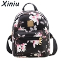 XINIU  Women Classic Backpack Girls Washed Leather Preppy Style School Backpacks Ladies Mochila Pokemon