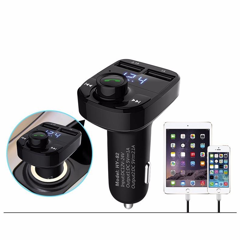 HYUNDAI Dual USB Car Charger Car MP3 Audio Player Car Bluetooth Car Kit FM Transmitter Bluetooth Handsfree Phone Charger| | - AliExpress