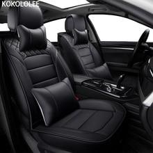 [Kokololee] искусственная кожа автомобилей чехлы для hyundai solaris ford focus 2 peugeot 206 307 bmw e46 vw passat b5 subaru автомобиль-Стайлинг