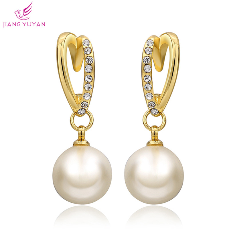 White Gold Plated Round Stone Cubic Zirconia channel earrings Women Wedding EARRINGS - TOTO5857 store