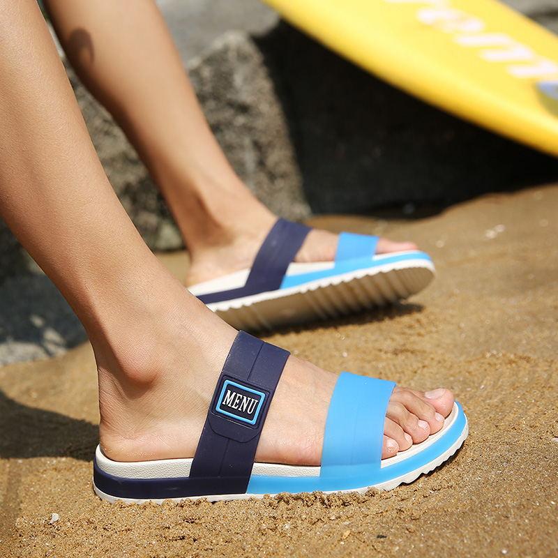 LAISUMK Summer Beach Men Slippers Casual Shoes Double Buckle Man Slip on Flip Flops Flats Camouflage Flip Flop Indoor & Outdoor 100