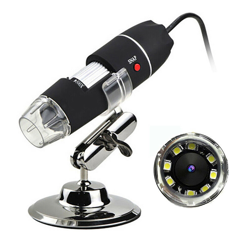 Video Digital Microscope Adjustable Replacement Set 1000X Magnifier Endoscope Camera 1080P 8 LED For Android 4.2