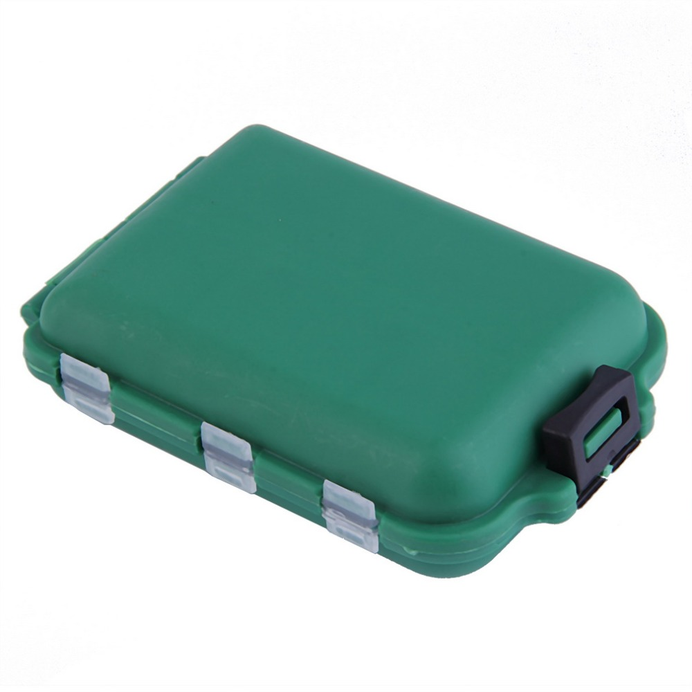 Delicate army green plastic fishing tackle boxes hook for Outdoor fishing