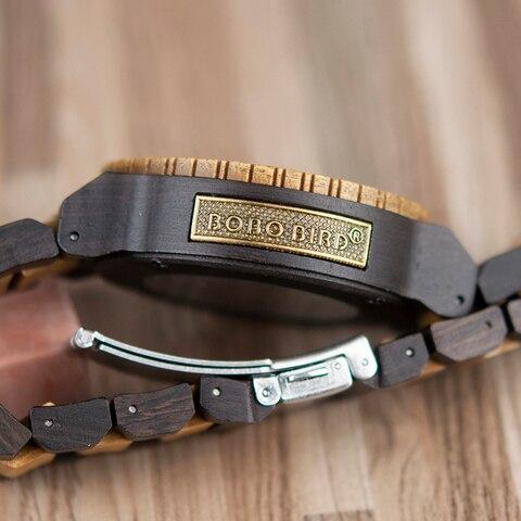 BOBO BIRD Wooden Mechanical Watch Men Relogio Masculino Big Mens Watches Top Brand Luxury Timepieces erkek kol saati W-R05 Multan