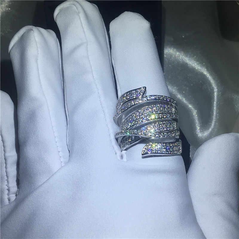 Choucong кольцо ручной работы с большим крестом 5A Циркон Cz 925 пробы серебро обручальное кольцо кольца для мужчин и женщин ювелирные изделия на палец