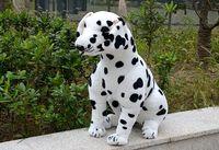 simulation spotted dog large 70cm squatting Dalmatian plush toy, birthday gift 0171