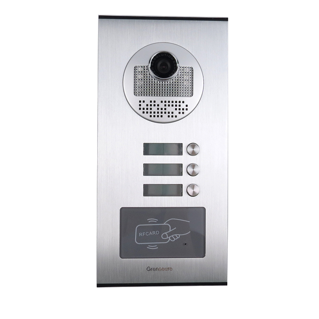 """Apartment 7"""" Color Video Door Phone Intercom System 3 Monitors + RFID Access Door Camera 3 Buttons + Electric Lock FREE SHIPPING"""