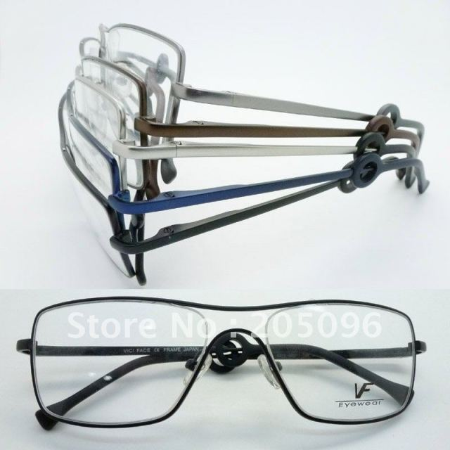 Wholesale VF6319 stainless steel big bending degree no welding Conjoined full-rim prescription eyeglasses frame free shipping
