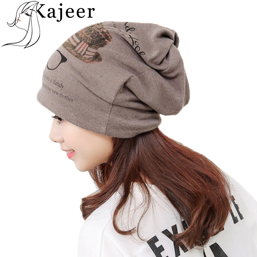 05c1d1144cd Detail Feedback Questions about Kajeer Ponytail Beanie Hat Women Printed  Glasses Cap Winter Hat Skullies Beanies Warm Caps Female Knitted Stylish Hat  For ...