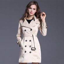 2016 Christmas/Casual Women's Trench Coat long Outerwear slim clothes for lad