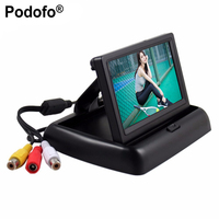 4 3 Inch HD Foldable Car Rear View Monitor Reversing Color LCD TFT Display Screen For