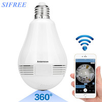 1 3MP Wifi Panoramic 360 Degree Camera Wireless Light Bulb Fisheye Camera Cctv Smart Home 3D