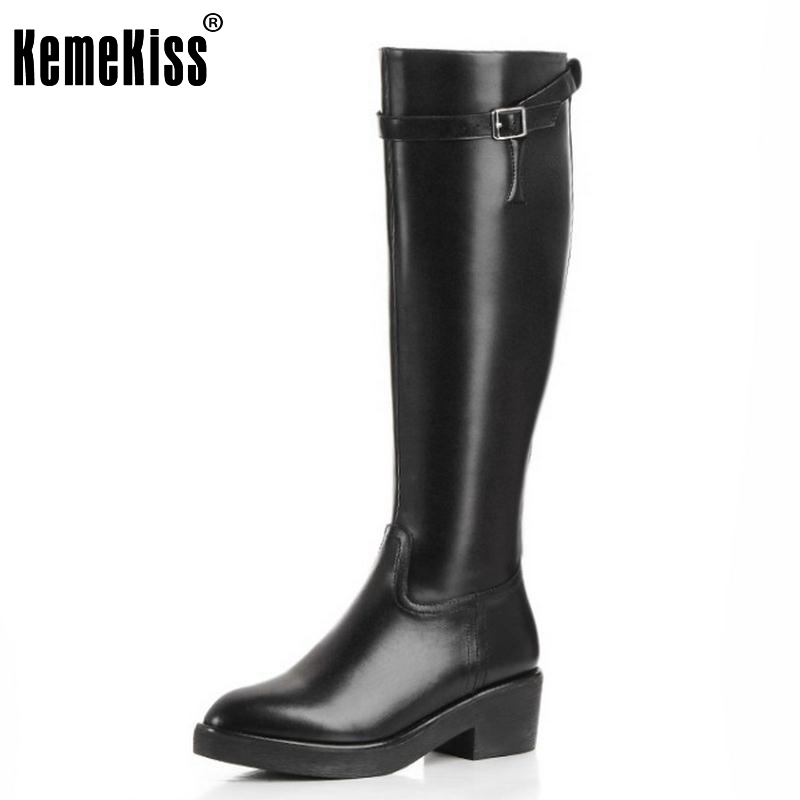 Women Boots Genuine Real Leather Knee Boots Sexy High Heel Pointed Toe Riding Botas Winter Zipper Fashion Women Shoes Size 34-39 woman real leather boots 2015 new winter boots black apricot zipper fashion martin boots 34 39 comfortable women knee high boots