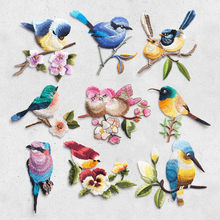 Bird Iron on Patches for Clothing Animal of The Breach Embroidery Applique DIY Hat Coat Dress Pants Accessories Cloth Sticker(China)