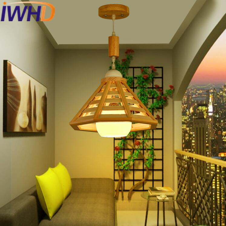 IWHD Nordic Style Wood LED Pendant Lights Creative Modern Glass Hanging Lamp Home Lighting Fixtures Lampara Aisle Iluminacion nordic modern wood glass pendant lights simple art coffee restaurant hanging lamp living bedroom pendant lamp for home lighting