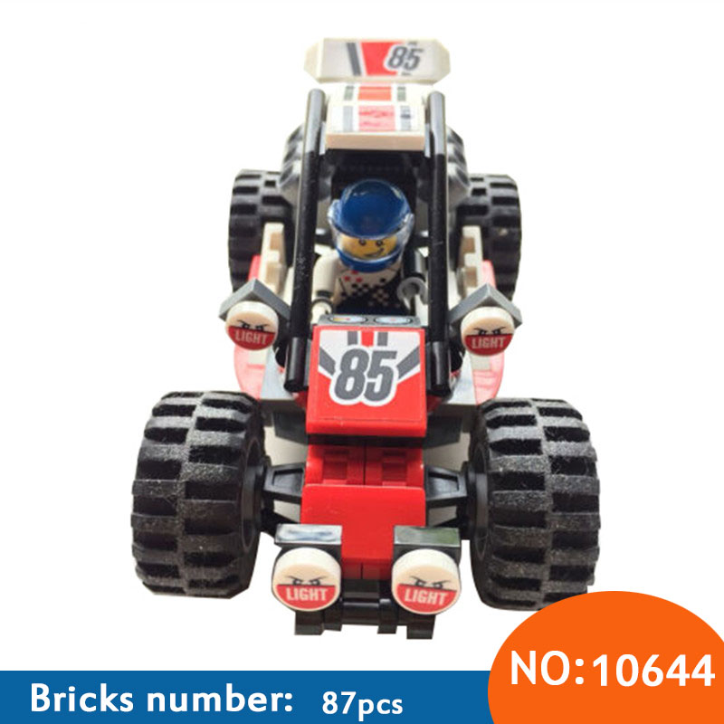10644 87Pcs City Figures Racing Car Sand Buggy Model Building Kits Blocks Bricks Toy Vehicles For Children Compatible 60145 neje yw0007 2 diy puzzle toy space sand air magic clay plasticine sand for kids pink 0 5kg