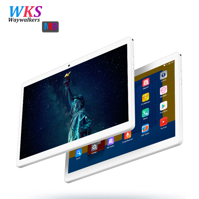Waywalkers 10 inch tablet pc Android 7.0 octa core RAM 4GB ROM 32/64GB 1920*1200 IPS Dual SIM WIFI bluetooth GPS tablets phone sales promotion 10 inch tablet pc octa core ram 4gb rom 64gb android 6 0 bluetooth phone tablets gps 1920 1200 ips kids gift