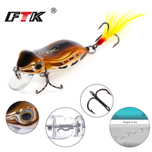 FTK Professional Colorful Hard Frog Fishing Lure 1pcs/lot 50mm 6.5g Topwater Sinking Floating Crankbait Wobblers Tackle