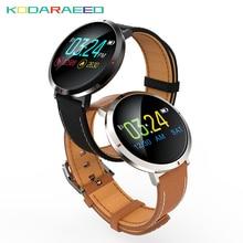 S2 Bluetooth Smartwatch Relógio Inteligente Com IPS Tela Colorida Pulseira de Couro À Prova D' Água Heart Rate Monitor de rastreador Para Xiaomi