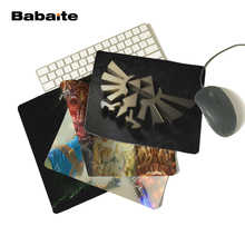 Babaite Hyrule Crest The Legend of Zelda Triforce Logo Personalized Computer Notebook Mouse Mat Resistant Dirt Mouse Pad