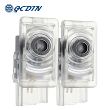 QCDIN For Cadillac Car LED Door Welcome Logo Light Decoration Shadow Projector Light for Cadillac CTS SRX XTS XT5 ATS-L