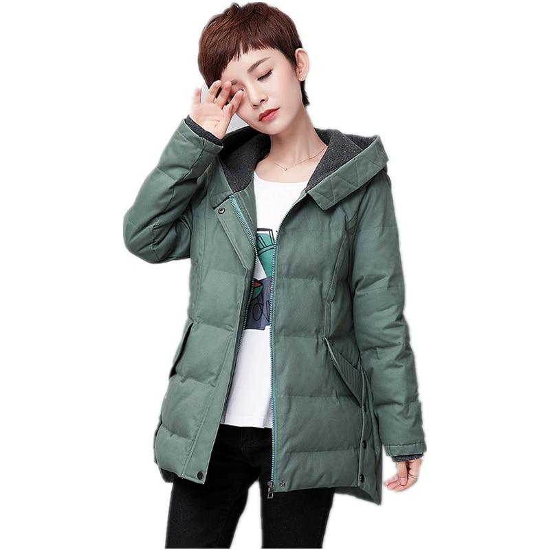 Winter jacket women warm hooded orange green 97.5% cotton medium style loose womens coats plus size M-5XL parka women 2017 new alfani new blue black colorblock womens size medium m boat neck sweater $59 092