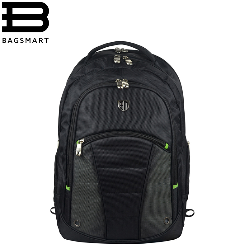 BAGSMART High Quality Laptop Backpacks Waterproof Business Backpack Nylon Travel Backpack Travel Bag Computer Bag 2017 hot sale men 50l military army bag men backpack high quality waterproof nylon laptop backpacks camouflage bags freeshipping