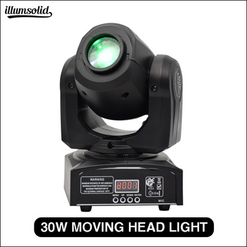 LED 30W spots Light DMX Stage Spot Moving 9/11 Channels dj 8 gobos effect stage lights Mini LED Moving Head Fast Shipping фото