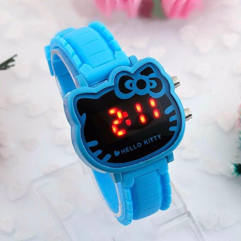 Дети часы светодиод спорт дети часы девочки коробка циферблат светодиод цифровой часы браслет наручные часы для мальчиков и девочек Reloj Nino