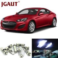 JGAUT For 2010 2011 2012 Hyundai Genesis Coupe White Car LED Light Bulbs Interior Package Kit