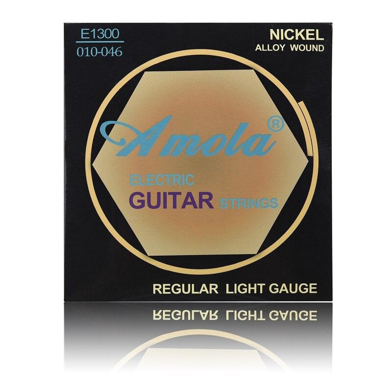 1set Guitar Strings Amola E1300 010 Regular Light Gauge Nickel Alloy Wound Electric Guitar Accessories