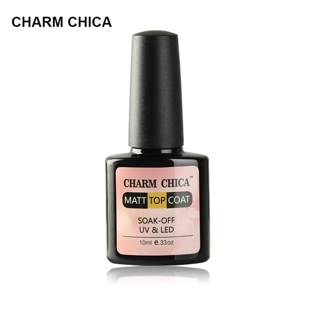 CHARM CHICA 10ml Matt Gel Nail Polish Surface No Light Soak Off Matt ...