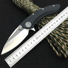 58-61HRC  D2 Blade  CNC TC4 Titanium alloy + G10 Handle Microtech Pocket Folding Knife Tactical Camping Survival Hunting Knives