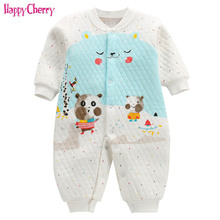 baby clothes boy girl clothes Full Sleeve cotton infantis baby clothing toddler romper cartoon costume Autum winter clothing ne цена 2017