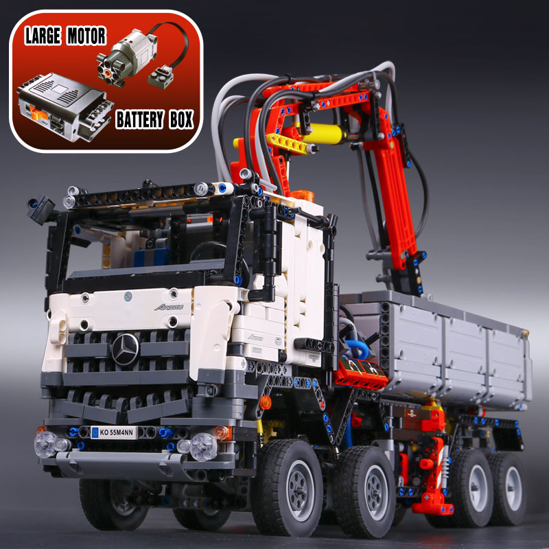 LEPIN 20005 3245 Technic Series 42023 Arocs Model Building Block Bricks Compatible with lego Boys Toy Educational Gift 05007 3245pcs new lepin 20005 technic series compatible with 42043 arocs 3245 set car model building block bricks boys toy car gift