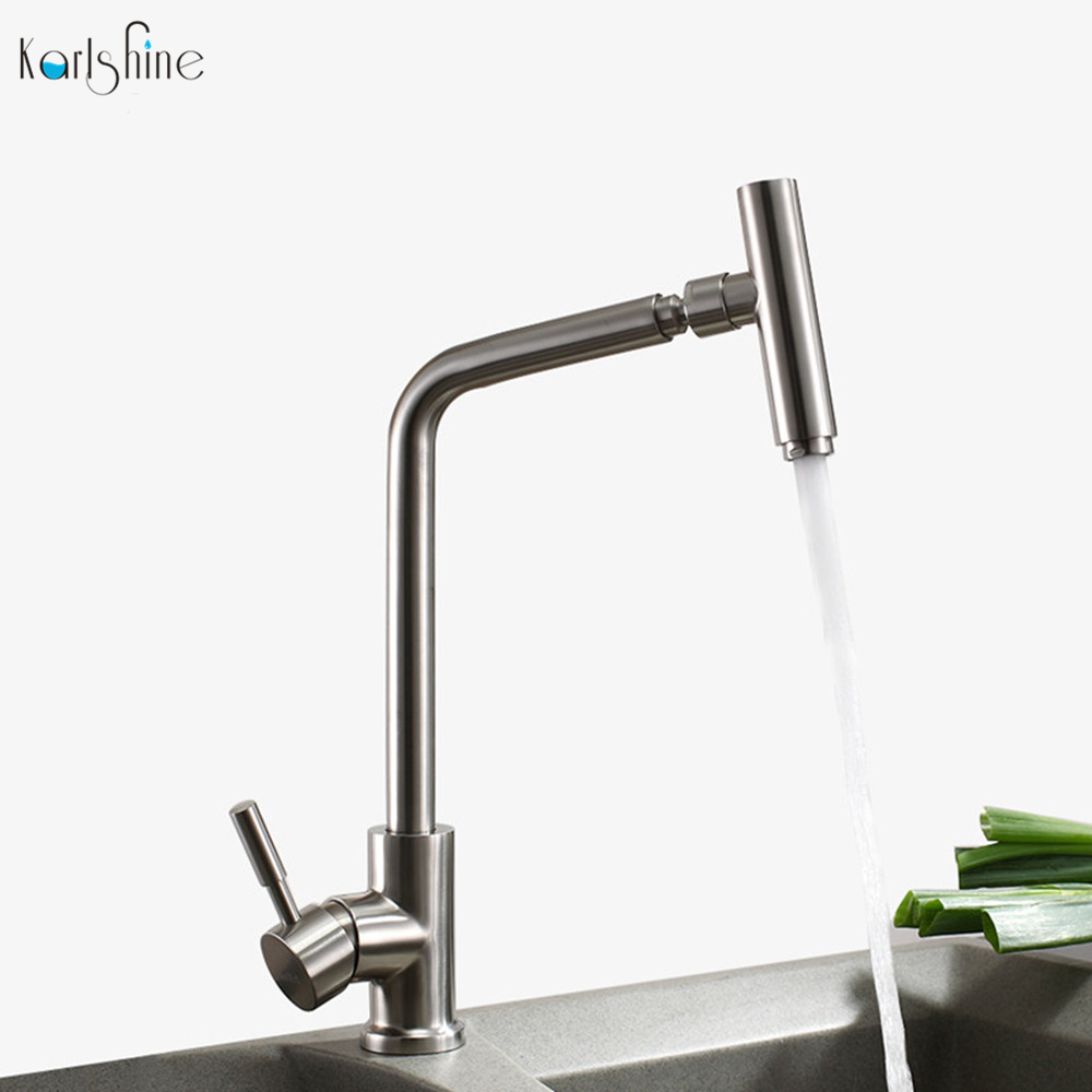 Outstanding Us 135 95 Modern And Luxury Kitchen Faucet Stainless Steel Brush Nickel Kitchen Sink Faucets Mixer Taps Rotation Water Faucet Single Hole In Kitchen Bralicious Painted Fabric Chair Ideas Braliciousco