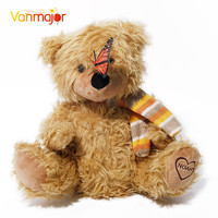 Romantic Teddy Bear Play Hide And Seek Lovely Cartoon Stuffed Kids Birthday Gift 30cm Cute Music Bear Plush Toy