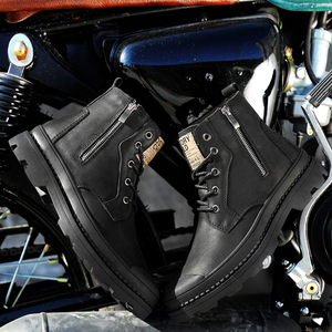 Image 5 - Mens winter boots work safety shoes casual genuine leather classics black plush nice boot man shoe ankle military boots for men