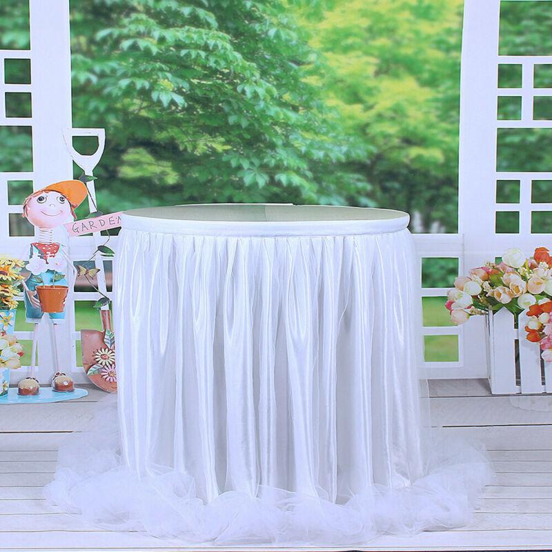 US 6ft Wedding Tulle Tutu Table Skirt Party Birthday Festive Baby Shower Decor