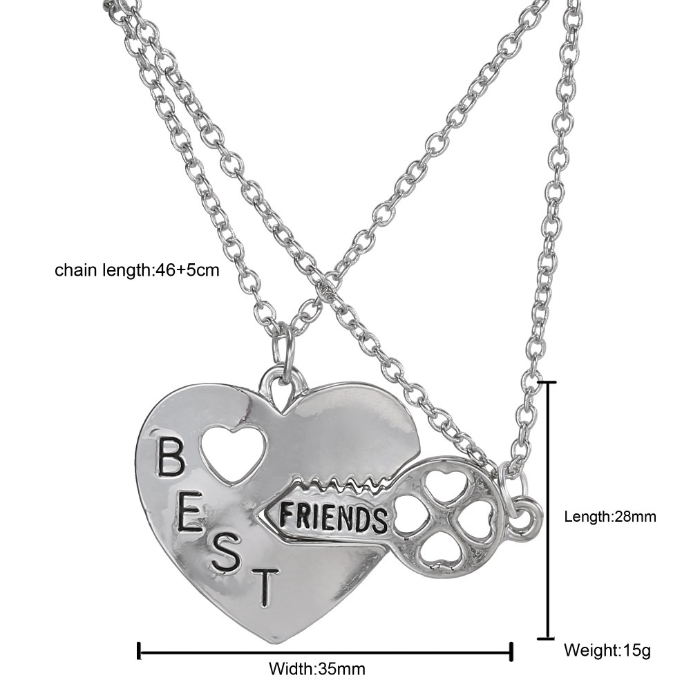 set gift sterling products friends heart puzzle wrapped jewelry mother img two necklace silver piece necklaces best daughter