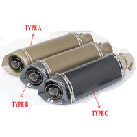 51mm Inlet Motorcycle Exhaust Silencieux Akrapovic Escape Good Performance Exhaust Pit Bike Muffler