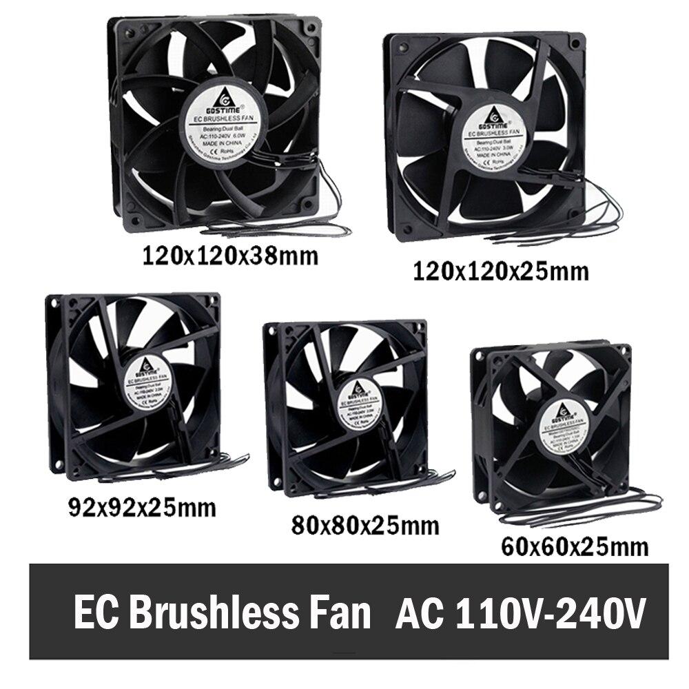 Gdstime CE Brushless Ventilador De Refrigeração AC 110V 120V 220V 240V Rolamento De Esferas Ventilador Axial 60MM 80MM 90 MILÍMETROS 120 MILÍMETROS