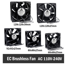цена на Gdstime EC Brushless Cooling Fan AC 110V 120V 220V 240V Ball Bearing Axial Fan 60MM 80MM 90MM 120MM