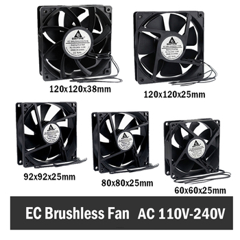 Gdstime EC Brushless Cooling Fan AC 110V 120V 220V 240V Ball Bearing Axial Fan 60MM 80MM 90MM 120MM ac fan s254ap 11 2 3 110v sinwan 3 wire 25489 cooling 620470cfm 19001450 rpm