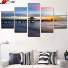 Картина на холсте atfipan домашний декор 5 панелей морской пляж