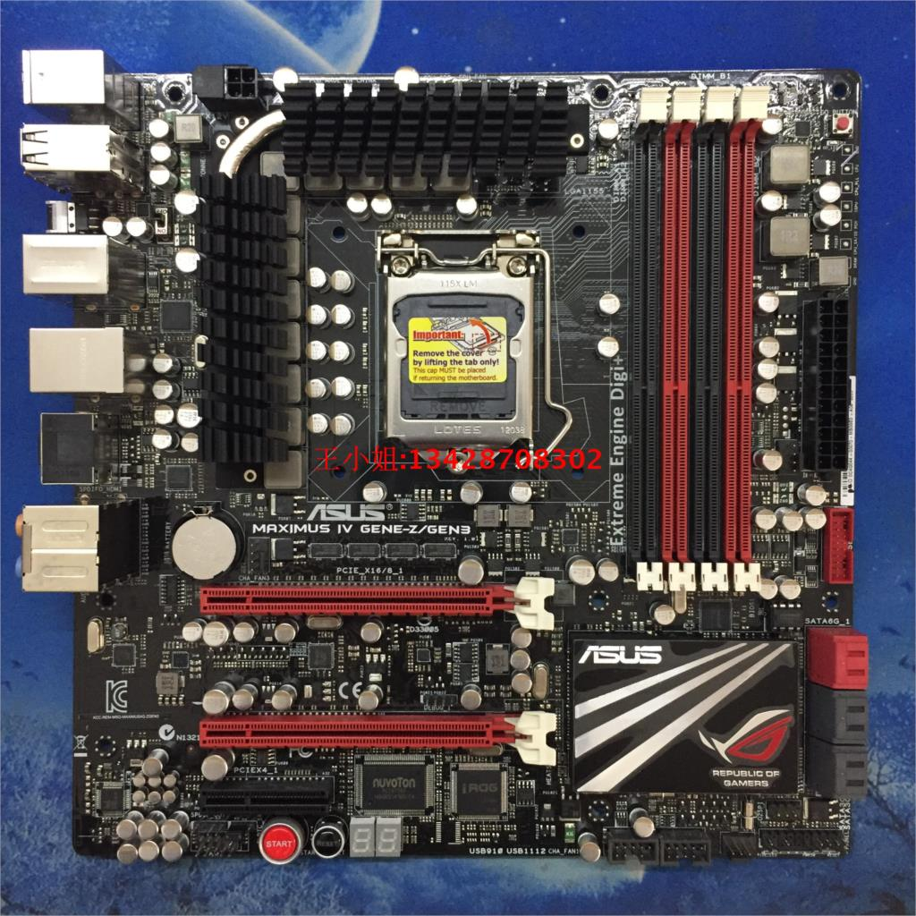 Asus Maximus IV GENE-Z/GEN3 M4G-Z GEN3 Desktop Moederbord Z68 Socket LGA 1155 i5 i7 E3 uATXmotherboard gebruikt 90% nieuwe