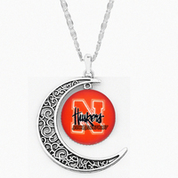 NCAA moon Necklaces Pendants Nebraska Cornhuskers Charms University Team Women Gifts Come on baby