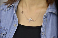 Trendy Heartbeat Necklace