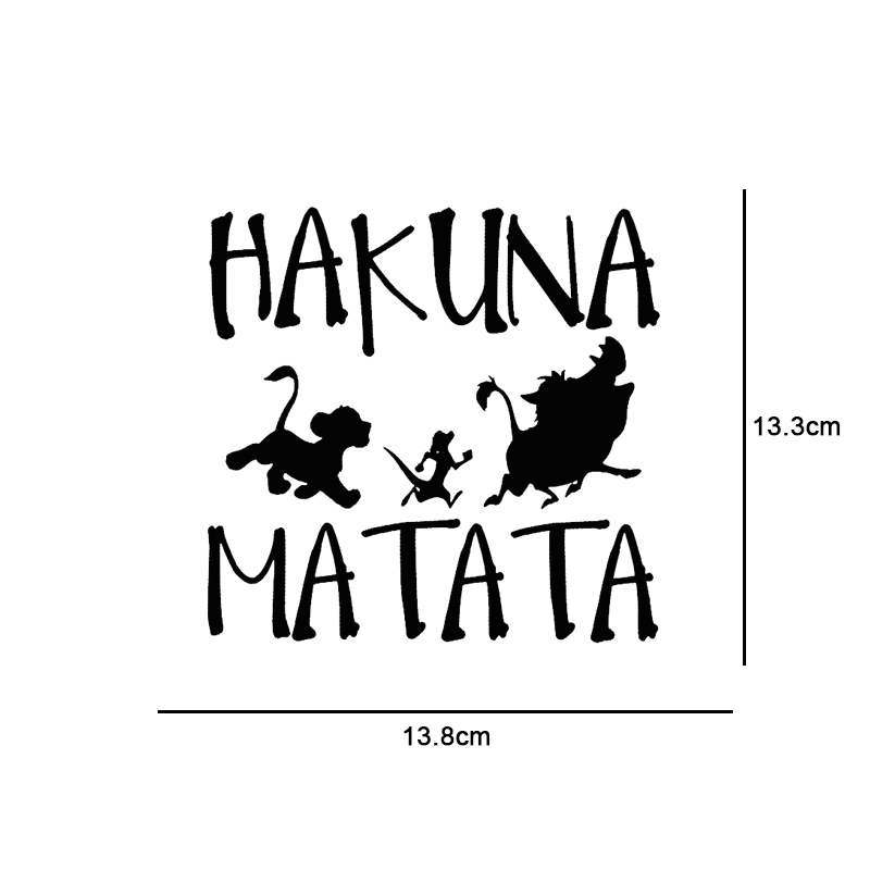 13.8cm13.3cm HAKUNA MATATA Lion King Simba Car-Styling Vinyl Car Sticker (5)